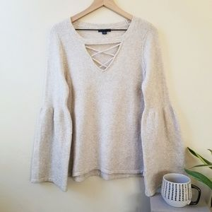 American Eagle Outfitters bell sleeved sweater